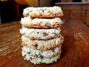 How to Make Gluten Free Cream Cheese Cookies with Coconut and Chocolate Chips