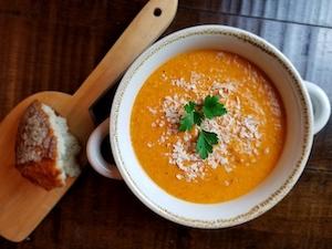 How to Make Gluten Free Tomato Parmesan Soup